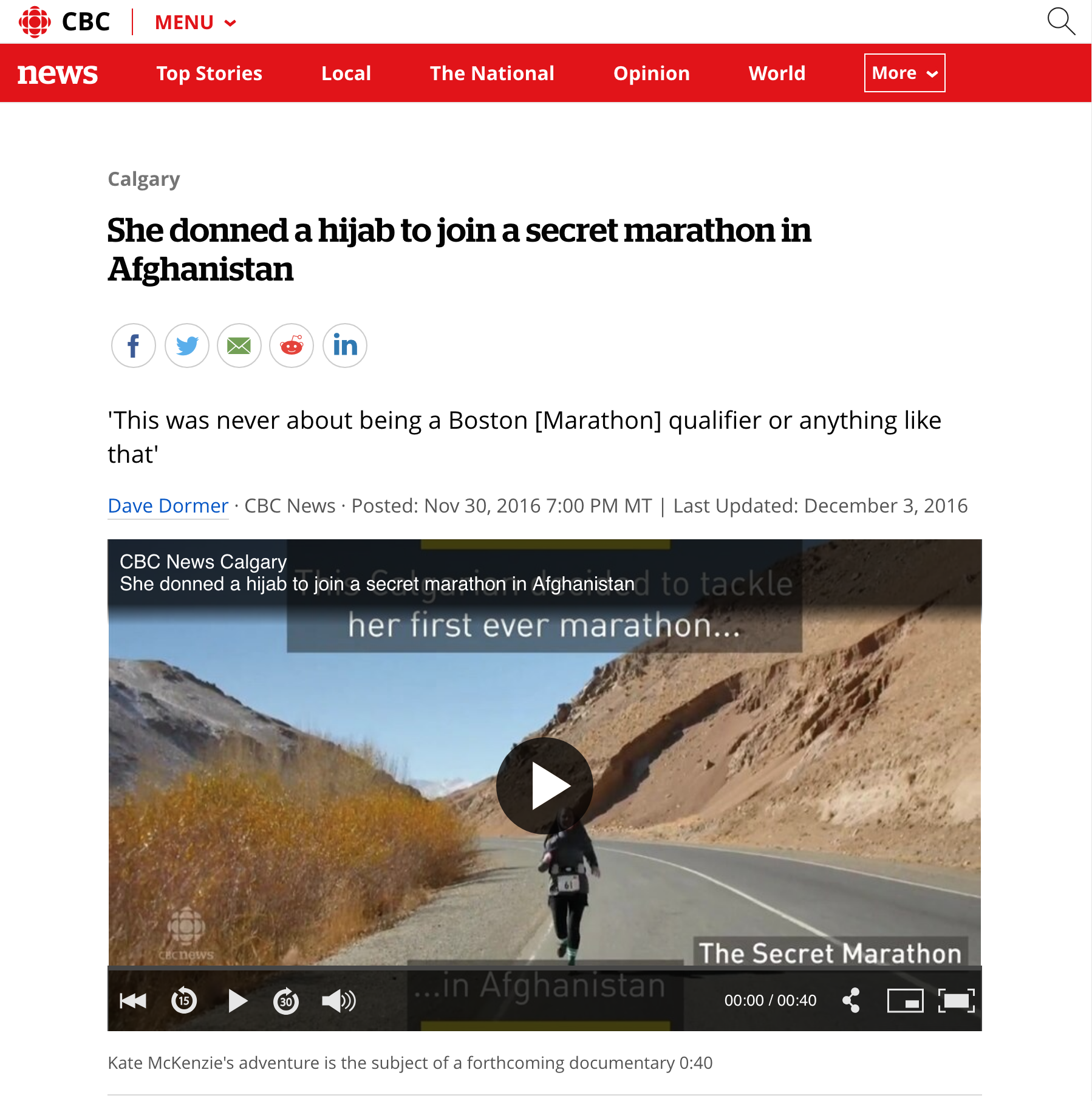 CBC - The Secret Marathon Film