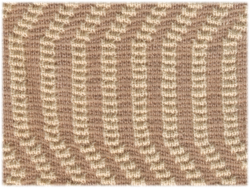 Two-Color Embossed Rippled Jacquard | 100% Wool