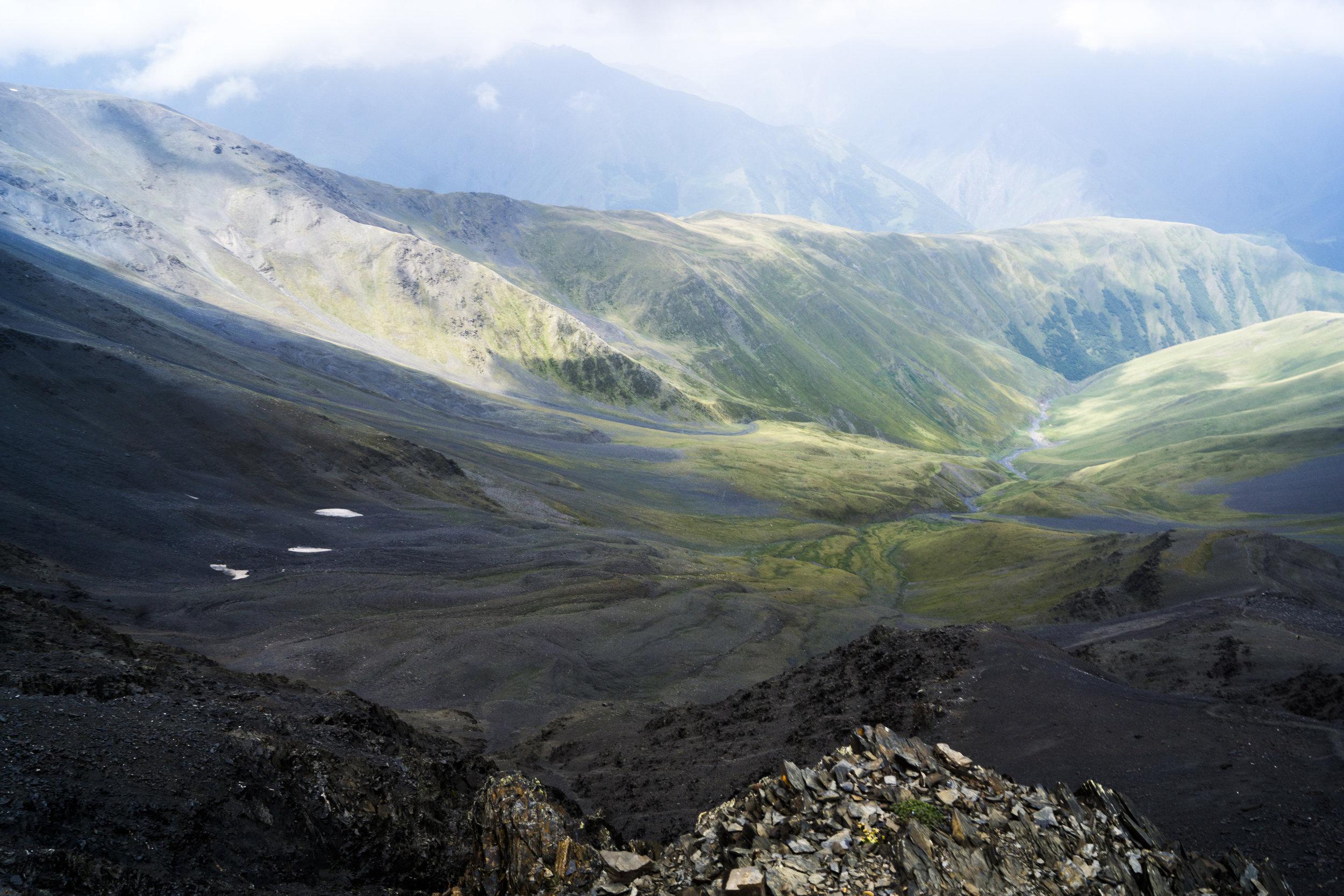 Atsunta Pass, Georgian Highlands.