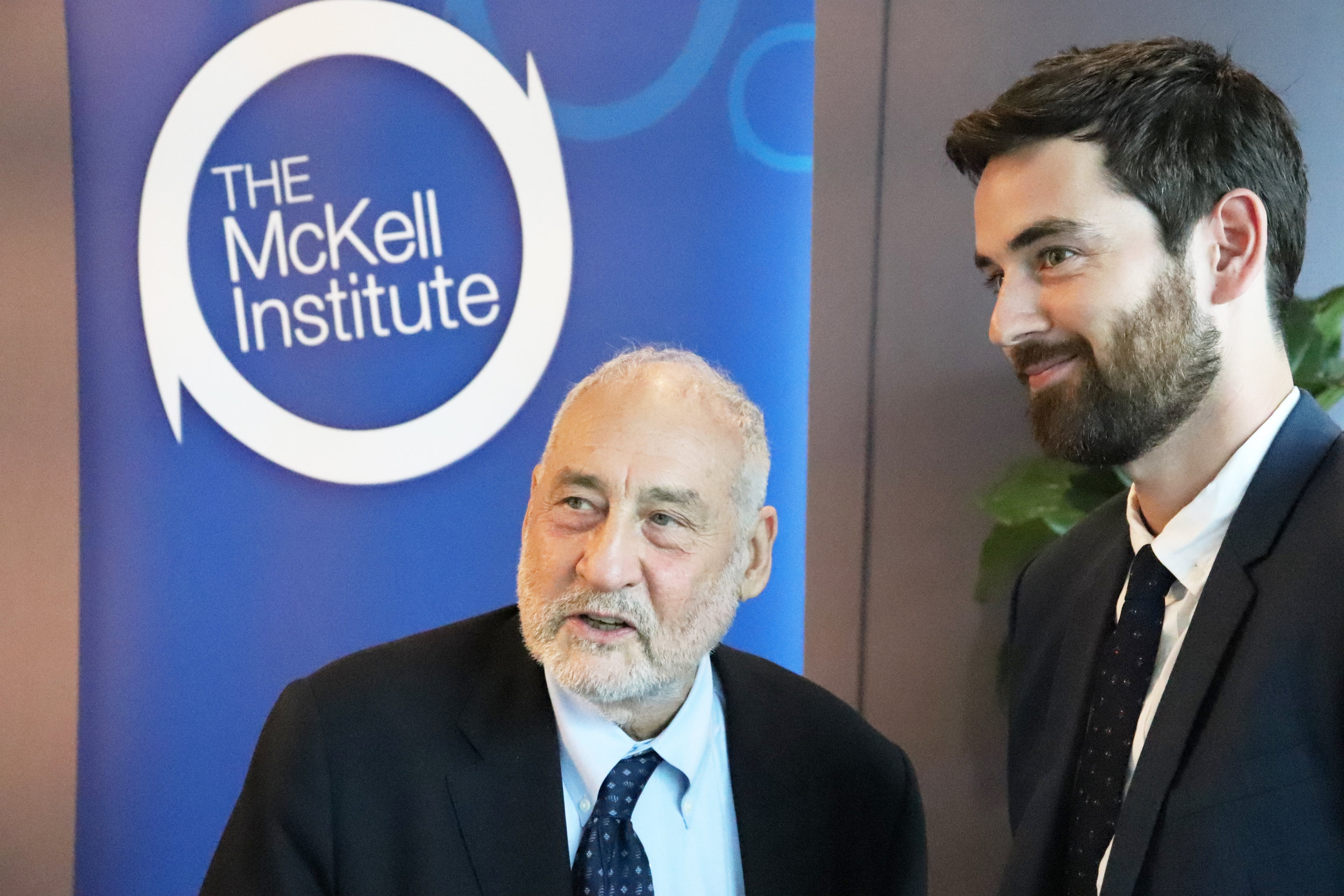 With Nobel Laureate Joseph Stiglitz, Sydney, 2018.