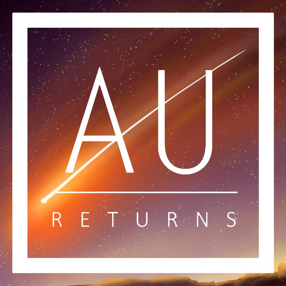 AU Returns Logo Comet Background