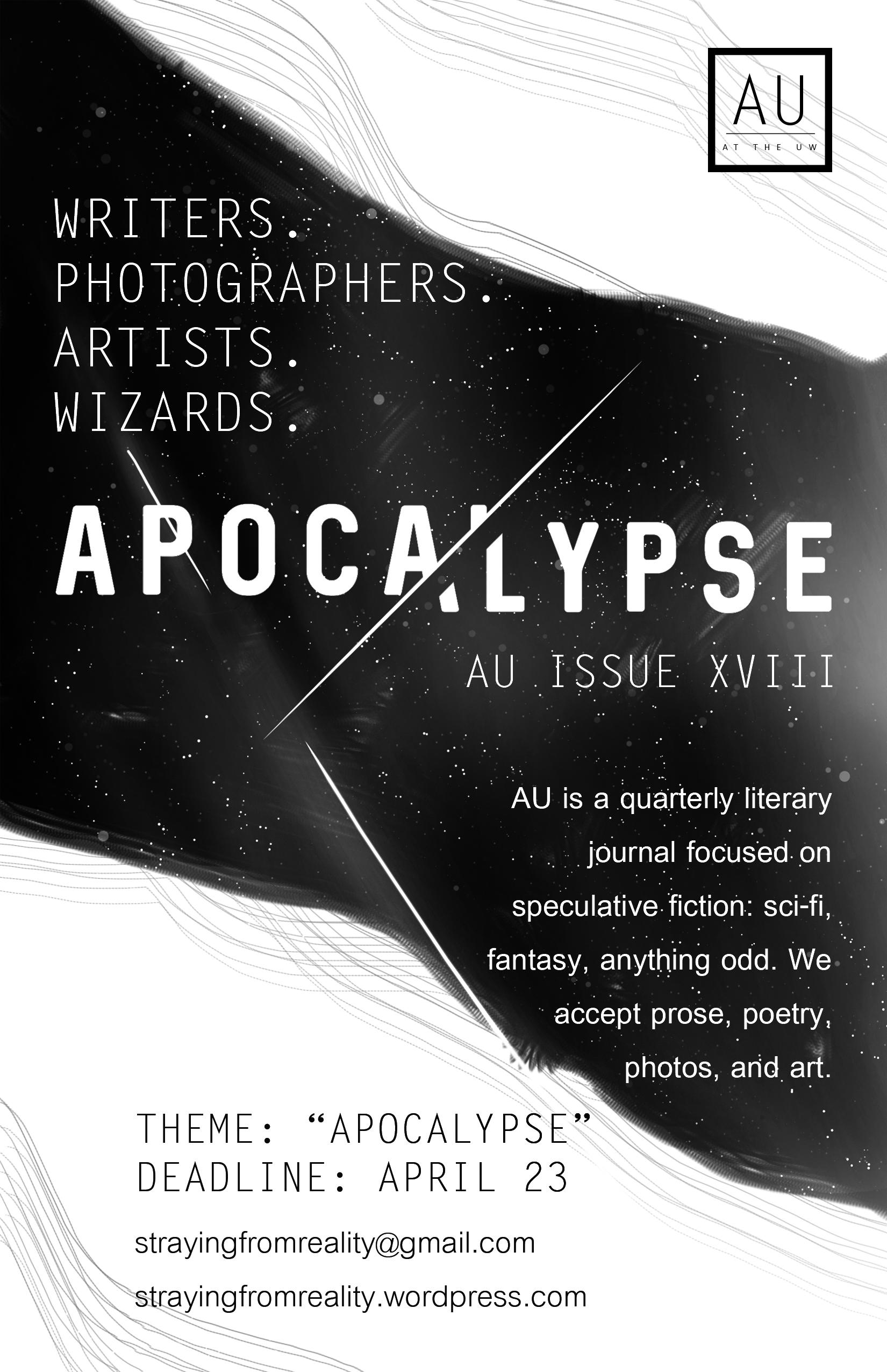 Issue XVIII Flyer: Apocalypse