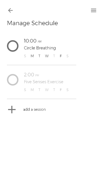 Scheduling Exercise Sessions