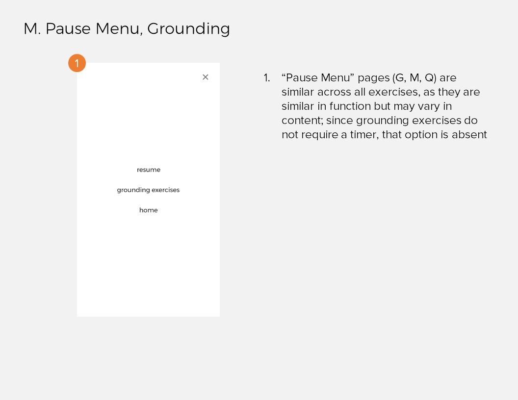 Annotations 12: M. Pause Menu, Grounding