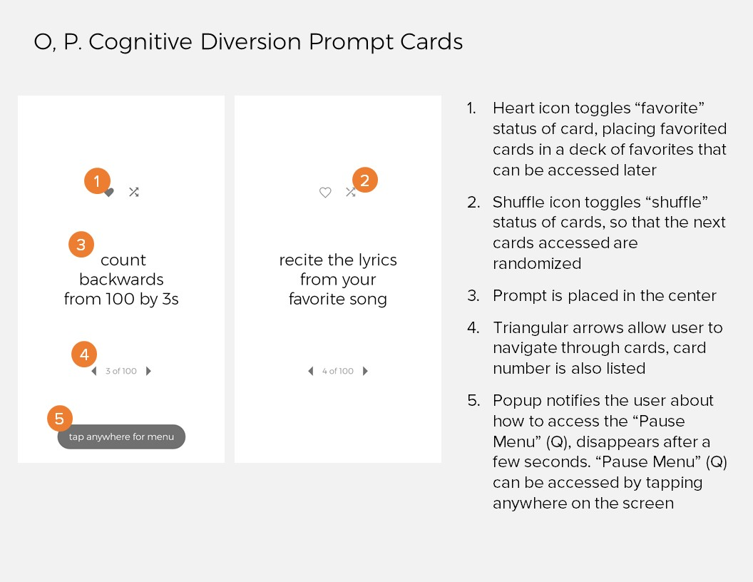 Annotations 14: O, P. Cognitive Diversion Prompt Cards