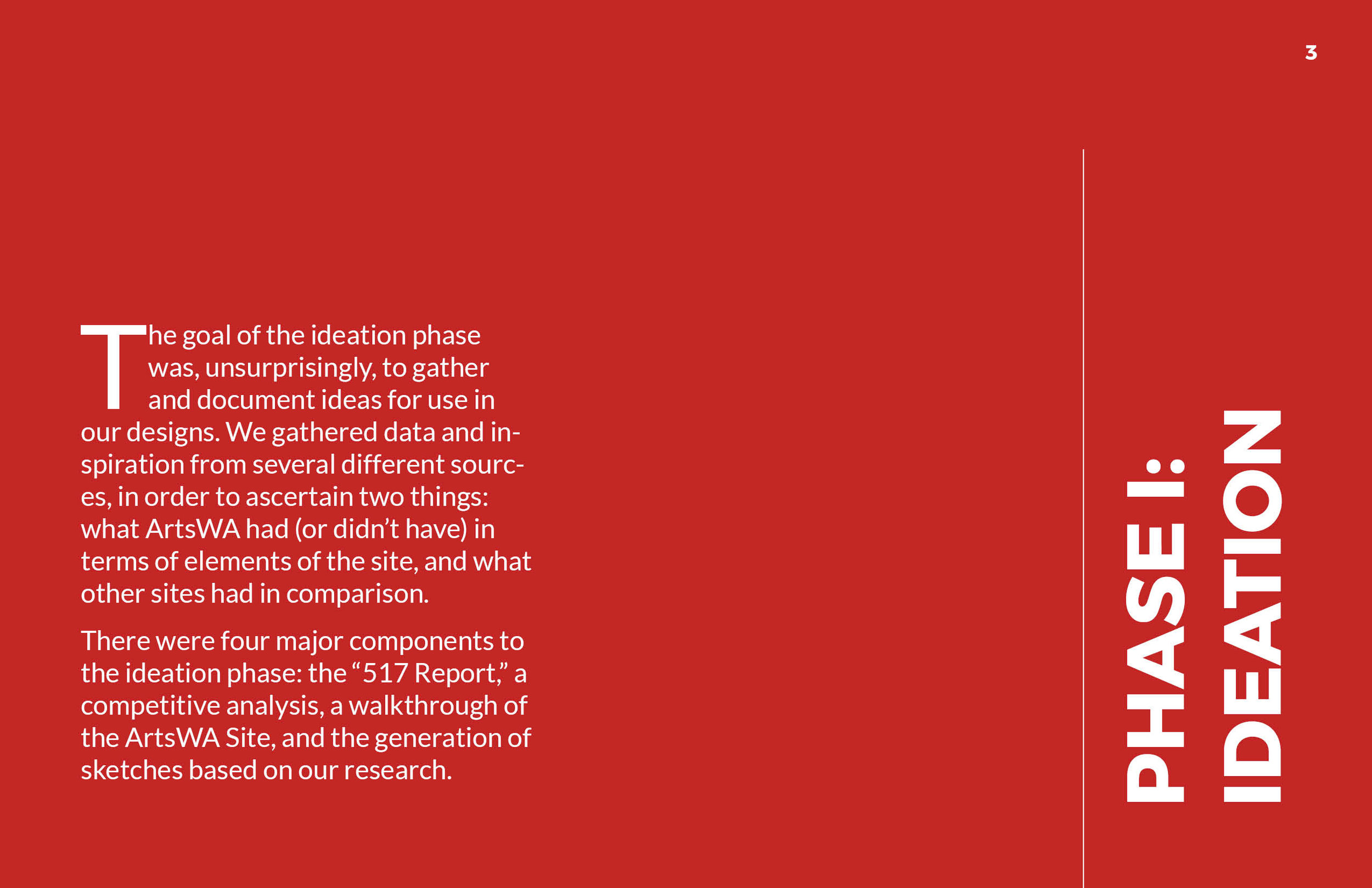 ArtsWA My Public Art Portal Process Book Phase 1: Ideation Page 1