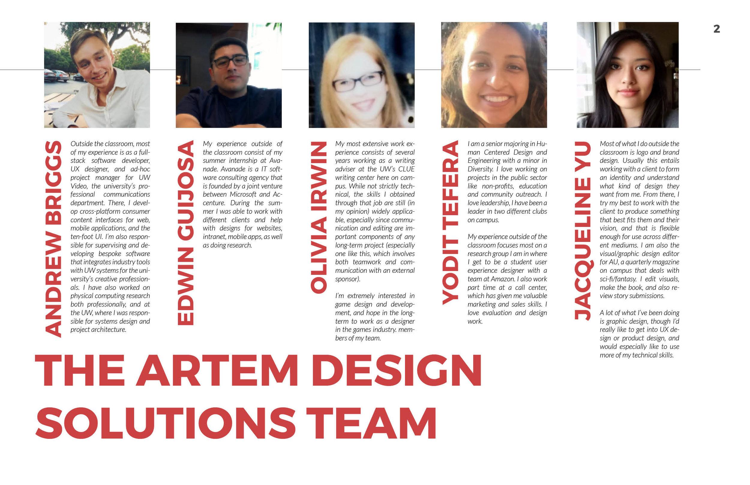 ArtsWA My Public Art Portal Process Book Meet the Team