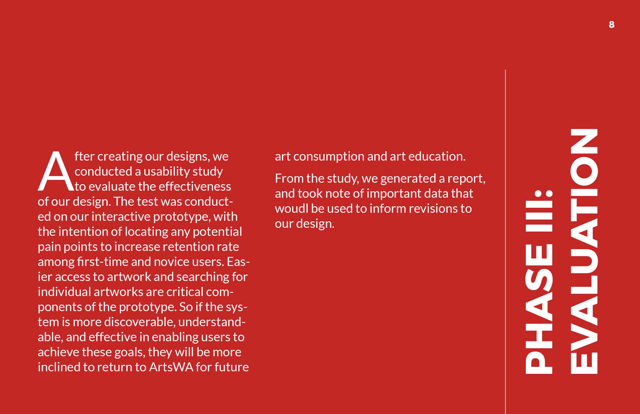 ArtsWA My Public Art Portal Process Book Phase III: Evaluation Page 1