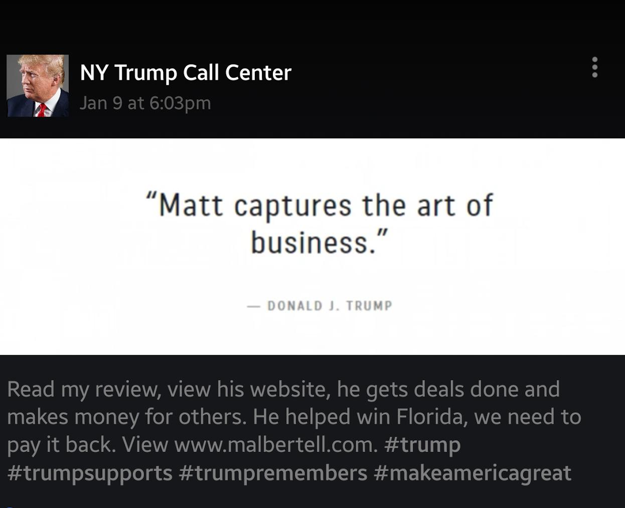 M Albertell Trump Review