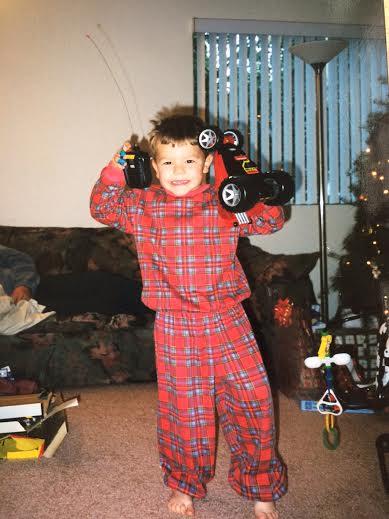 Joey's first car. Thanks Santa!