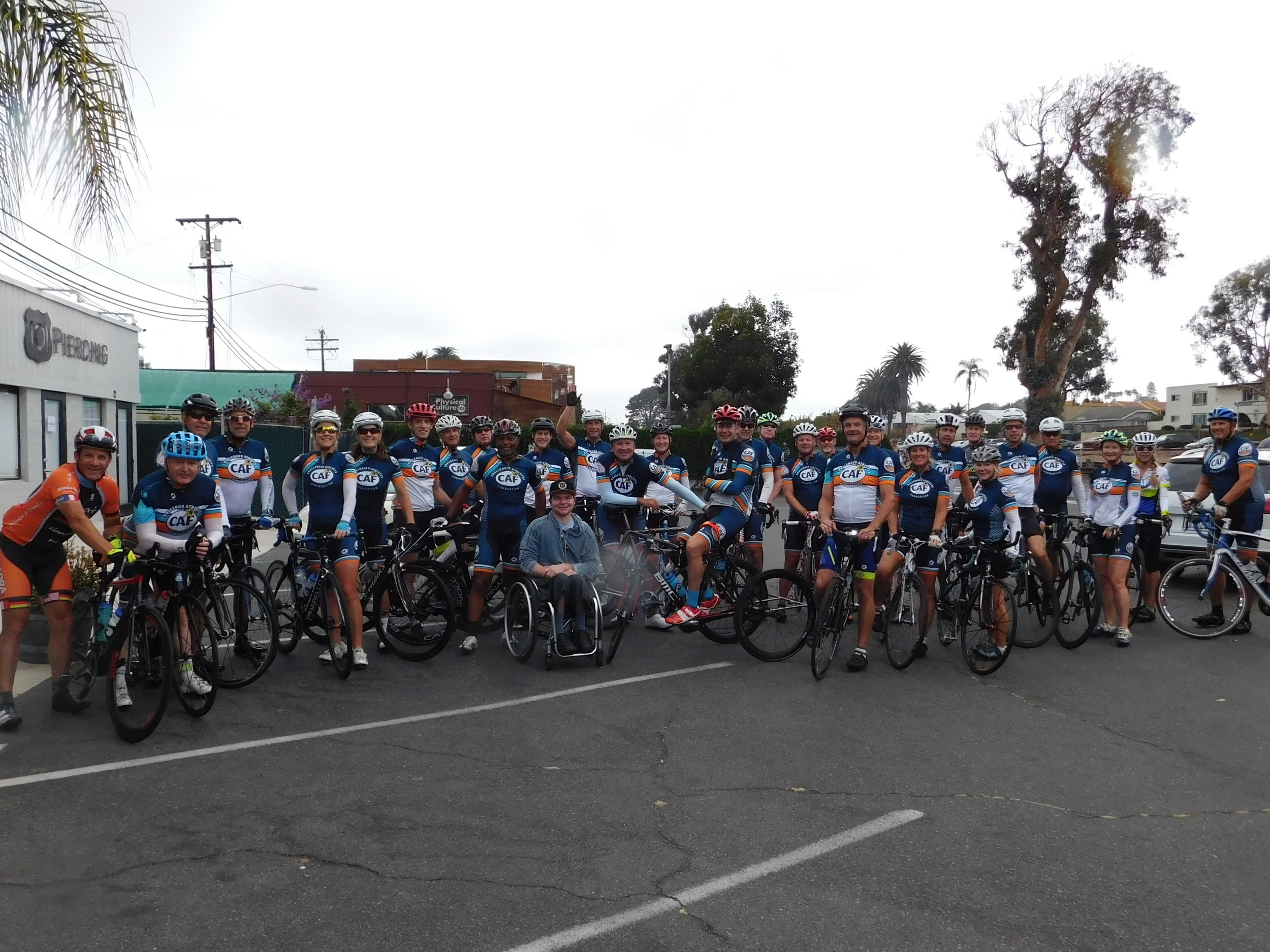 Challenged Athletes Foundation Cycling Club meets Team Joey riders and rolls out with us at our start. Thanks CAF for being a part of our event this year!