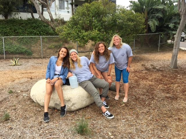 SAG crew: Victoria, Sadie, Ali, and Joey's sister, Annie. THANKS girls!