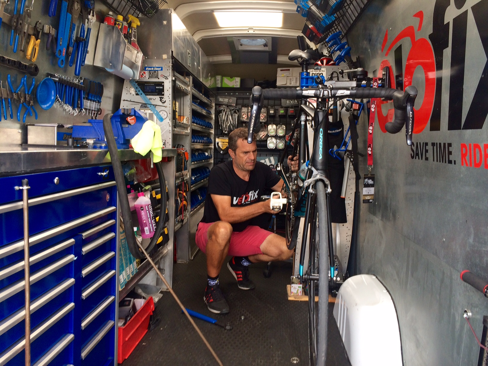 Paul at Velofix supporting our ride!