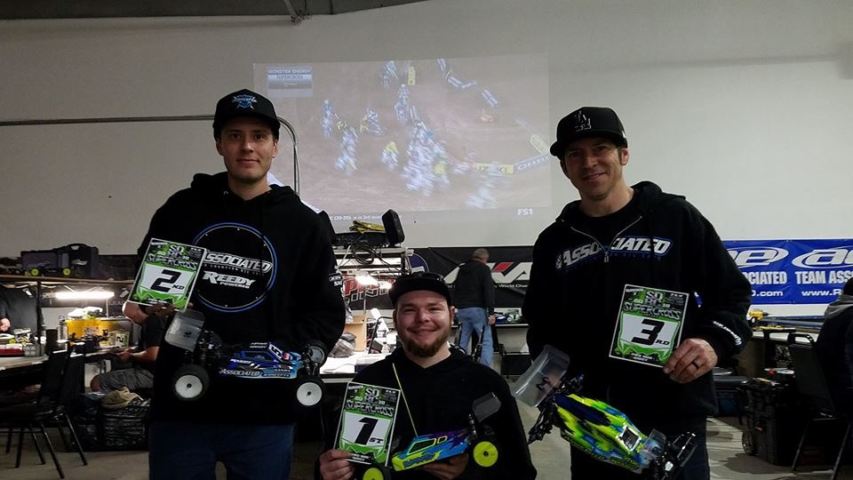 1st place 2wd Mod Buggy Round 2 SDRC Supercross Series Jan 27, 2018