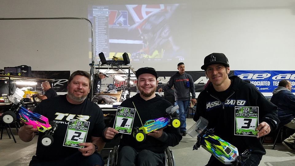 1st place 4wd Mod Buggy Round 3 SDRC Supercross Series Feb, 2018