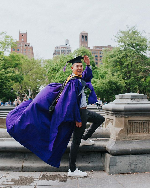 Yasssss my sis @calvin_chenyunyu graduated from NYU! Y'all know damn well I had to take a flight to NYC to take his grad photos and watch him walk. ✨☺️😍