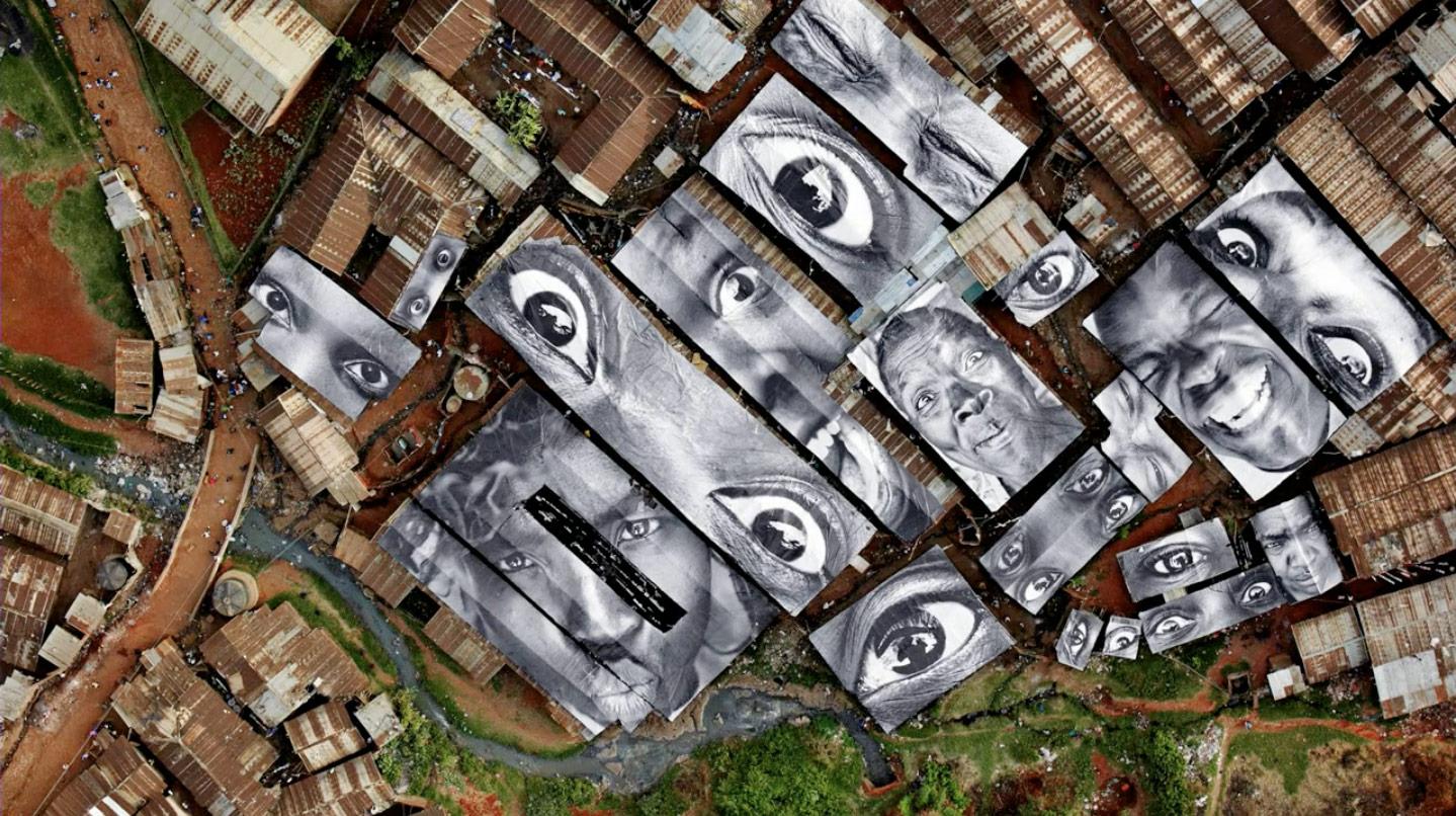 28 Millimeters, Women Are Heroes Action in Kibera Slum, General View, Kenya, 2009 by  JR
