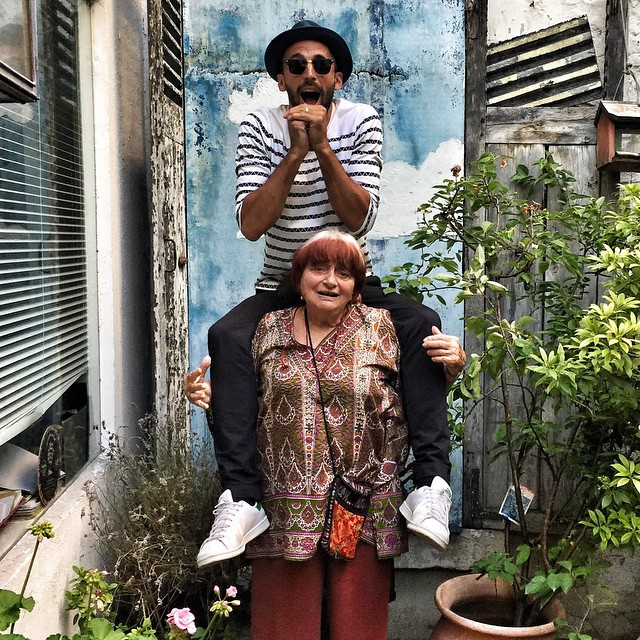 JR with  Agnes Varda
