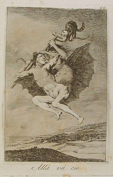 Alla va eso by Francisco de Goya (1799)