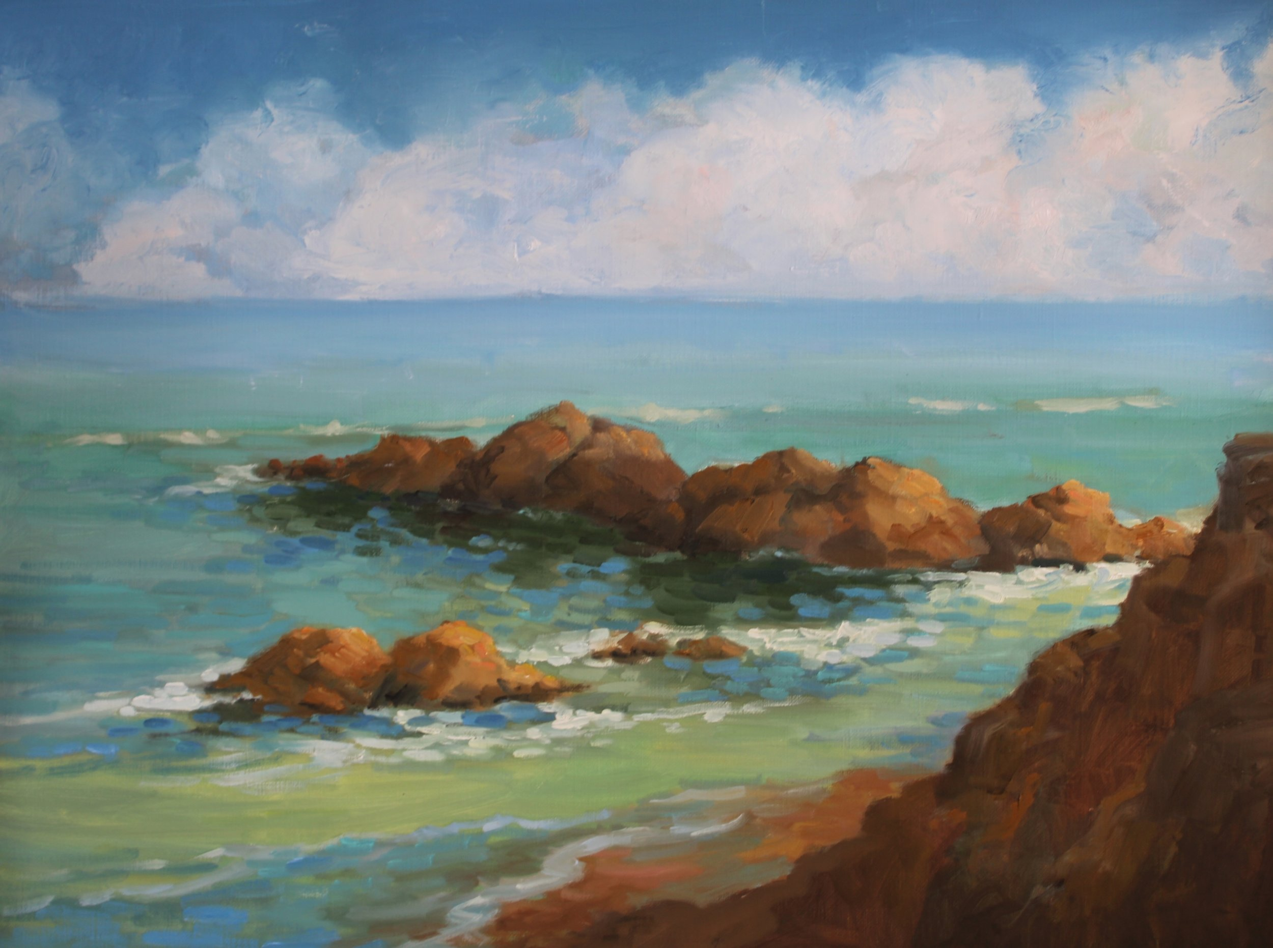 View from Surfers' Trail, 18 x 24, Oil on Linen, June 2019.JPG