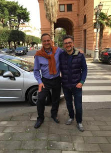 Dr. Rubinfeld and Professor Ostraloco in Salerno, Italy