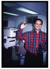 Dr. Rubinfeld after laser vision correction procedure.