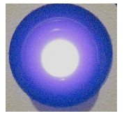 From a patient's perspective the UV light appears to have a soft blue color.