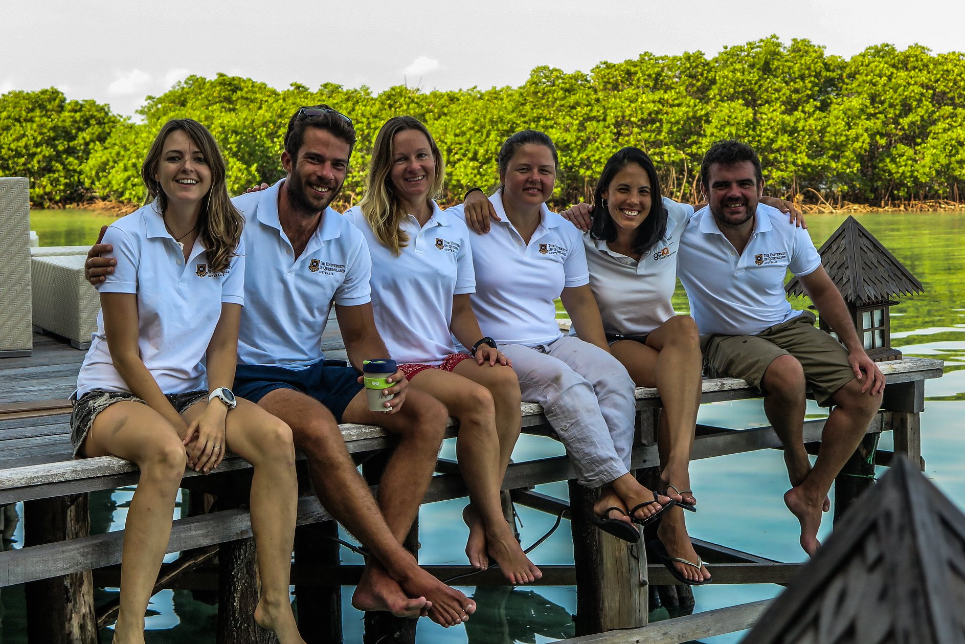 The field team from L-R: Emma Kennedy, Patrick Gartrell, Kathryn Markey, Susie Green, Anjani Ganase and Dominic Bryant