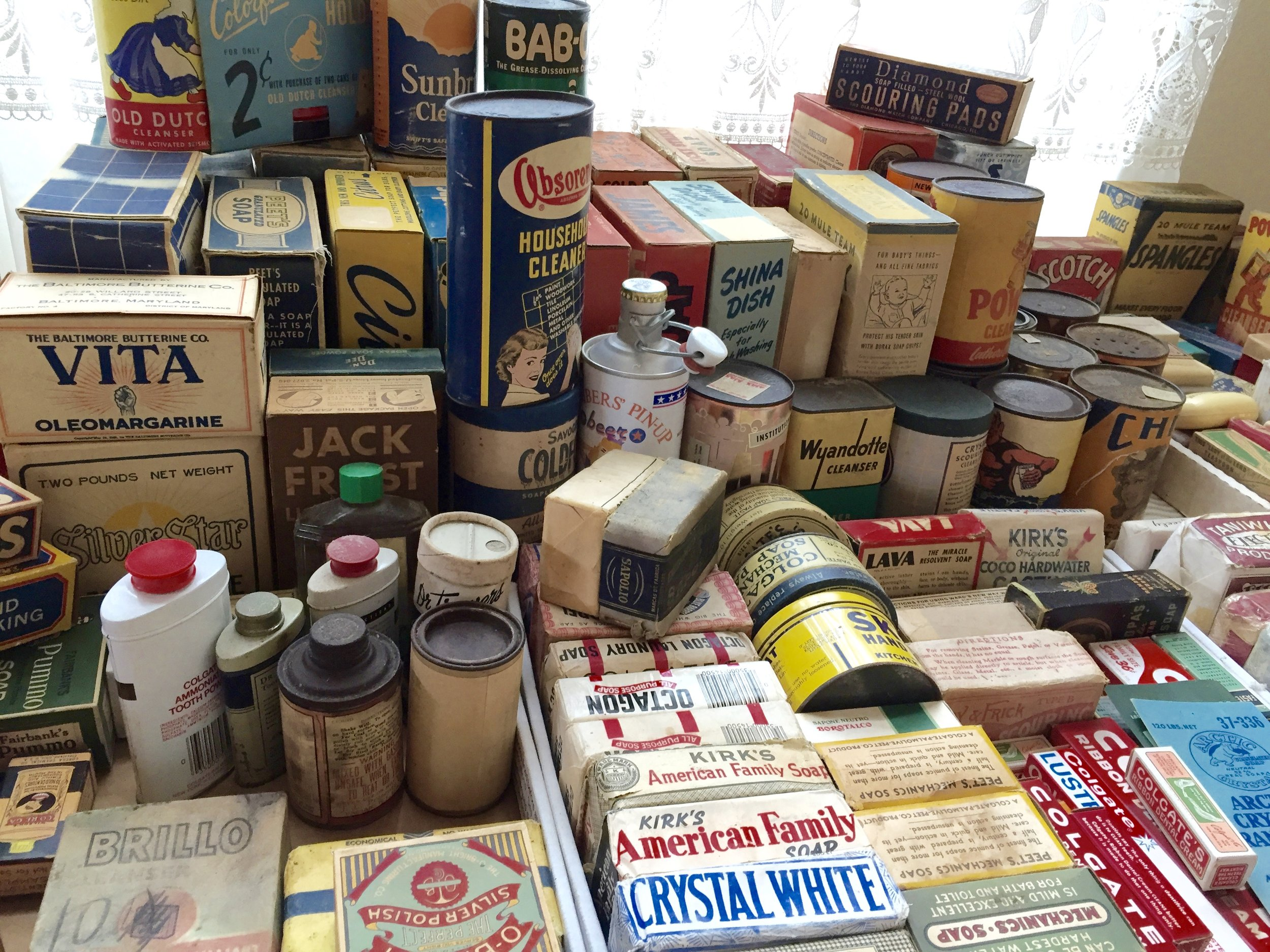 Large Collection of Vintage Colgate and soap items. Windsor.