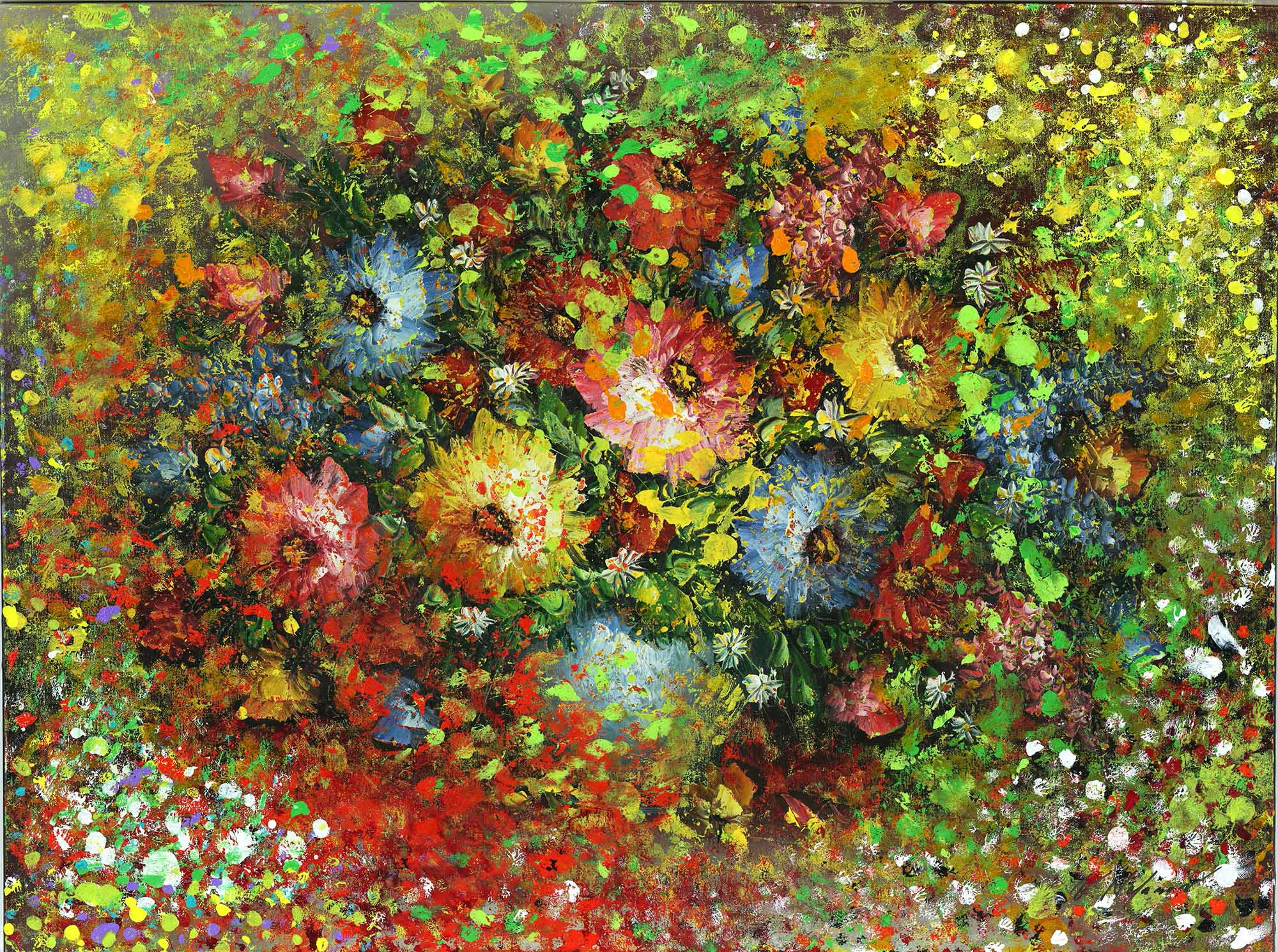 """Bloom and Breath 36""""H x 48""""W"""
