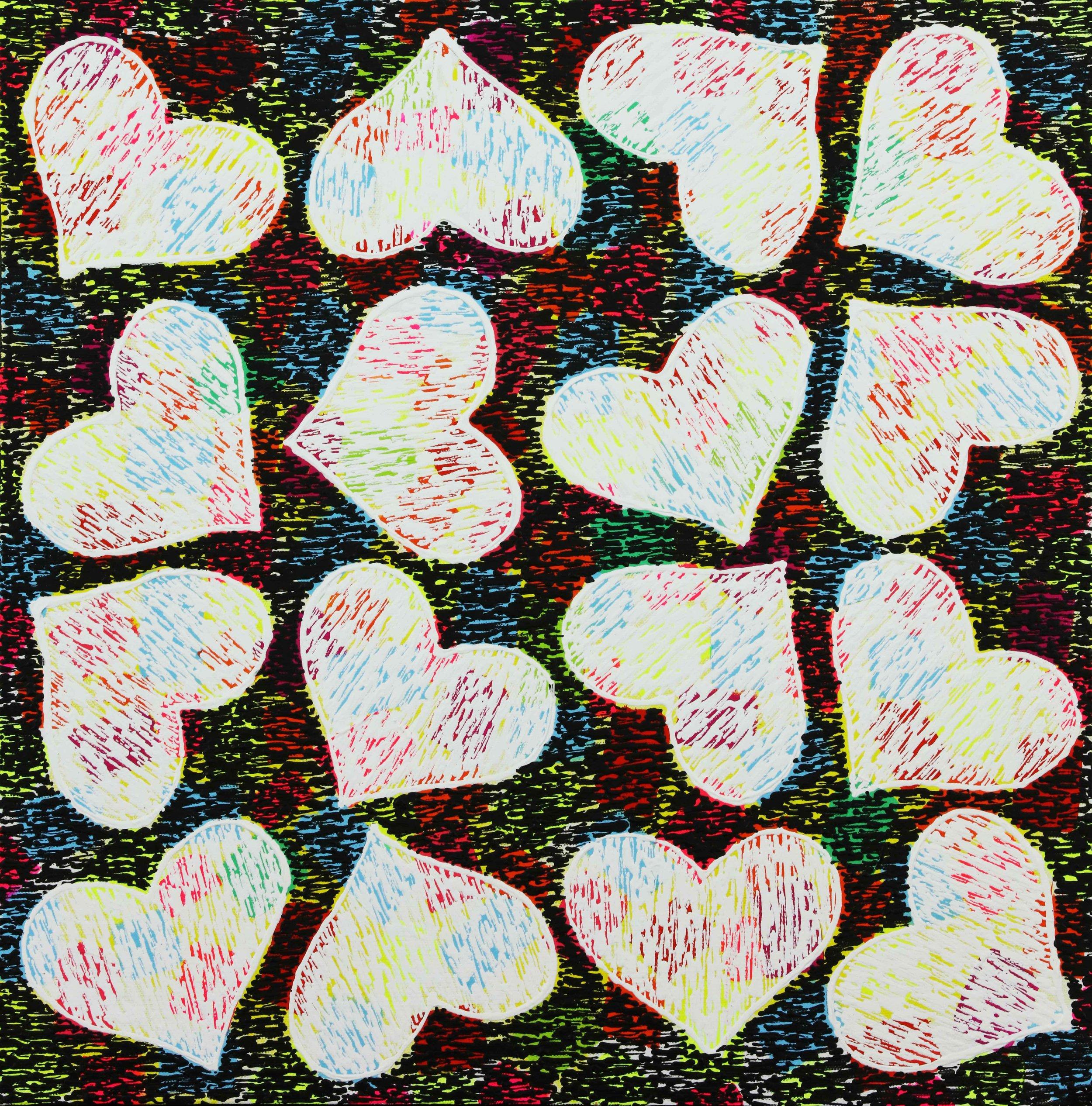 "Colors of Love- 20""H x 20""W x 2.5""D"