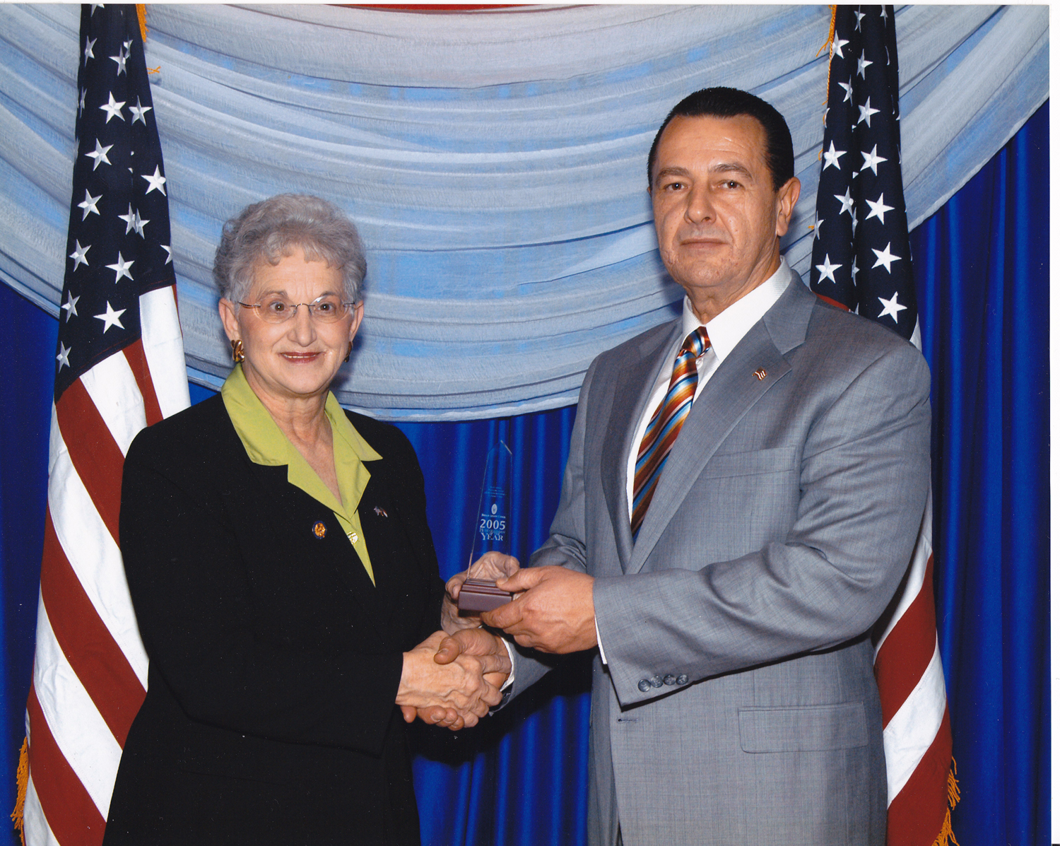 U.S. Representative Virginia Foxx and Vladimir Nazarov