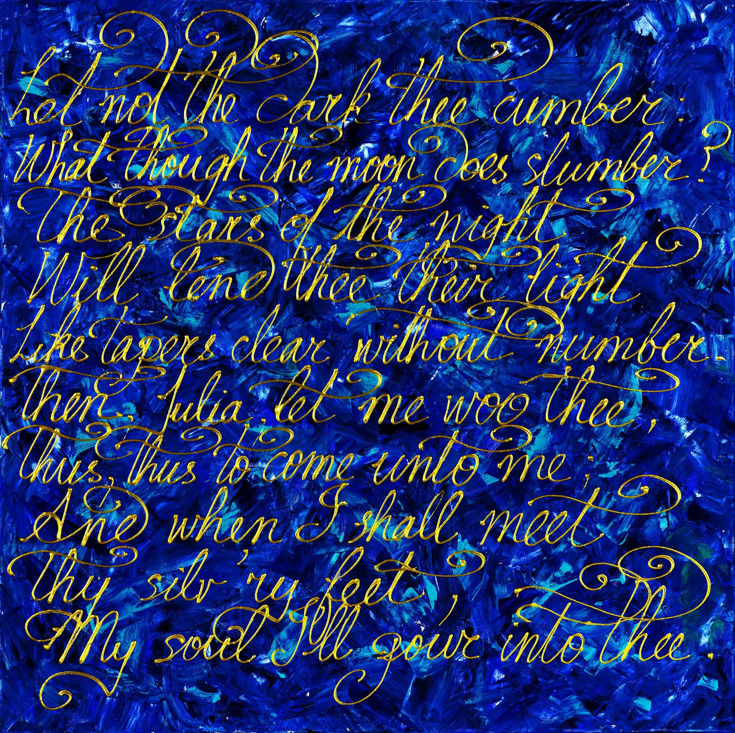 """Joining The Poets 30""""H x 30""""W"""