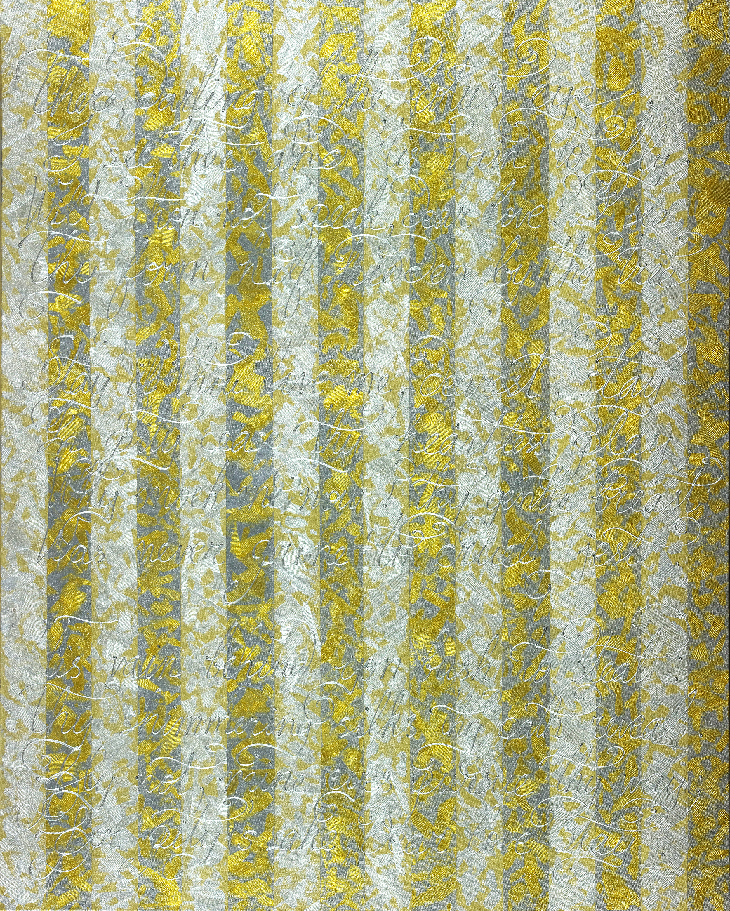 """Stay With Me Forever Within The Silver and Gold 60""""H x 48""""W"""