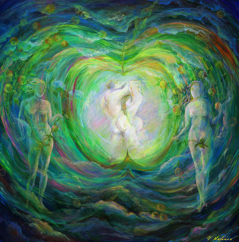 """Adam & Eve 48""""H x 48""""W"""