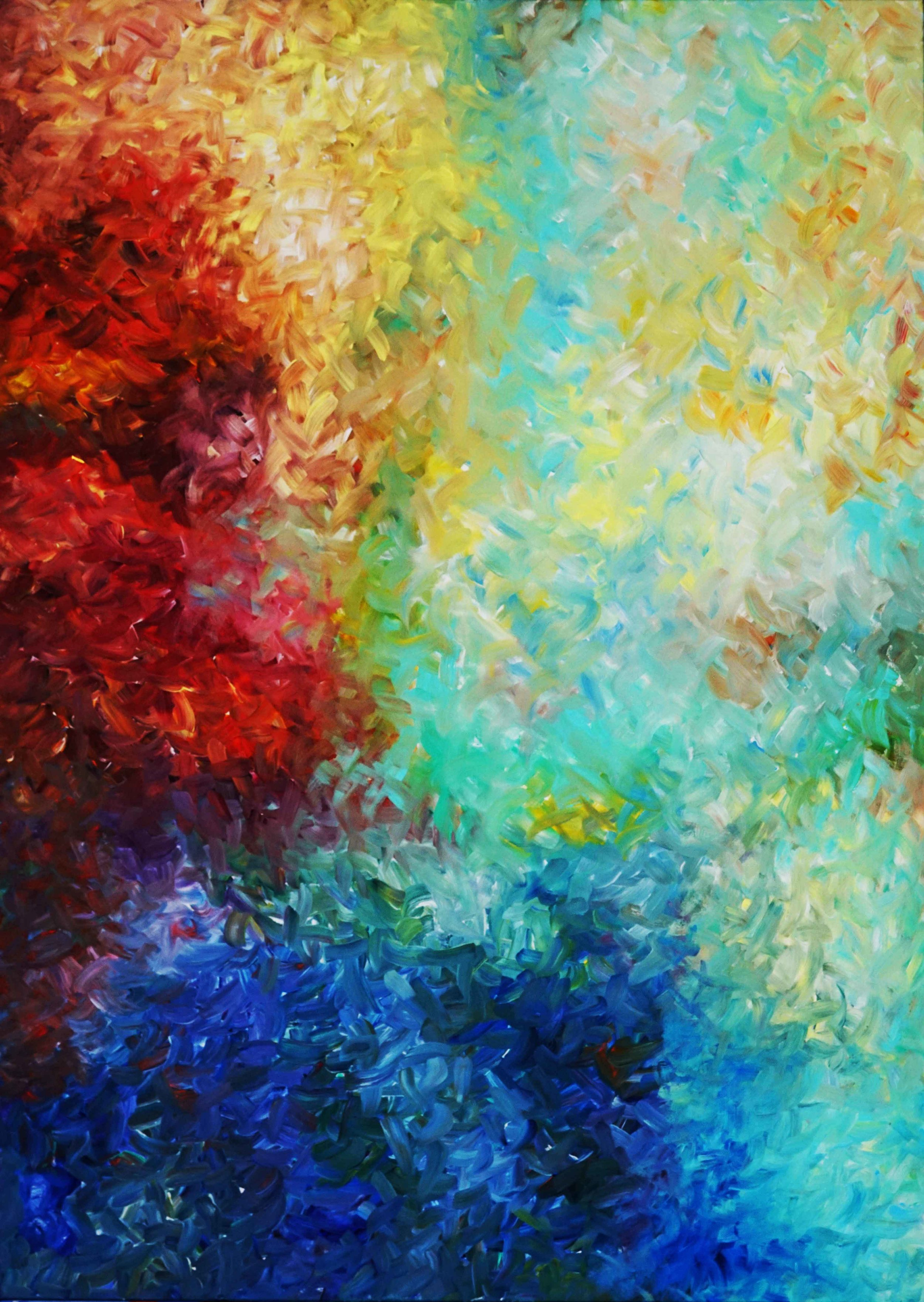 """Ride Upon The Wind - Dance Upon The Mountain 84""""H x 60""""W"""