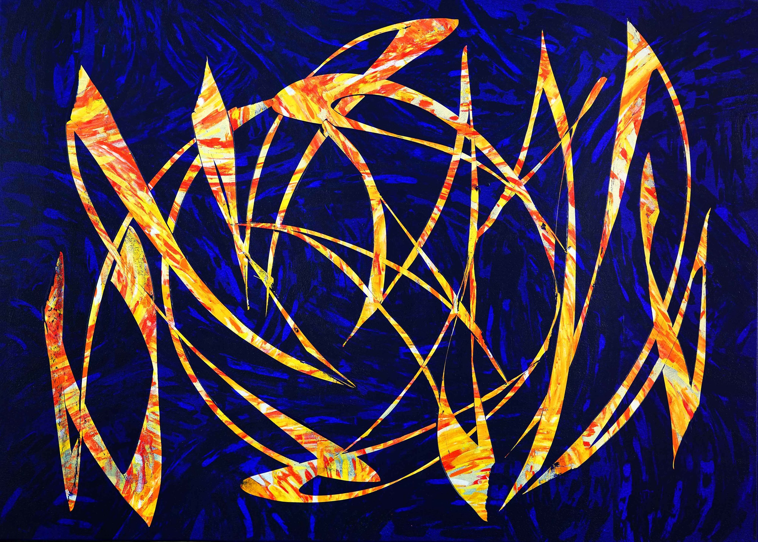 """Light The Flame - 60""""H x 84""""W"""