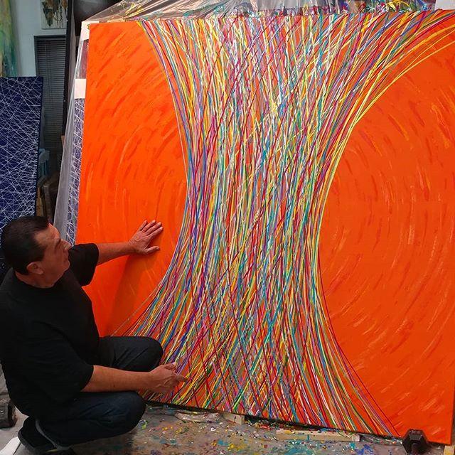 "Building a bridge ""To Walk The Other Side"" 72 x 72 Inches  The Bridges Series  #art #painting #abstractart #abstraction #artdealer #artgallery #artadvisory #artadvisor #artconsultant #artcollecting #artcollector #collectingart #artlover #artworld #interiordesign #interiordesigner #contemporaryart #fineart"