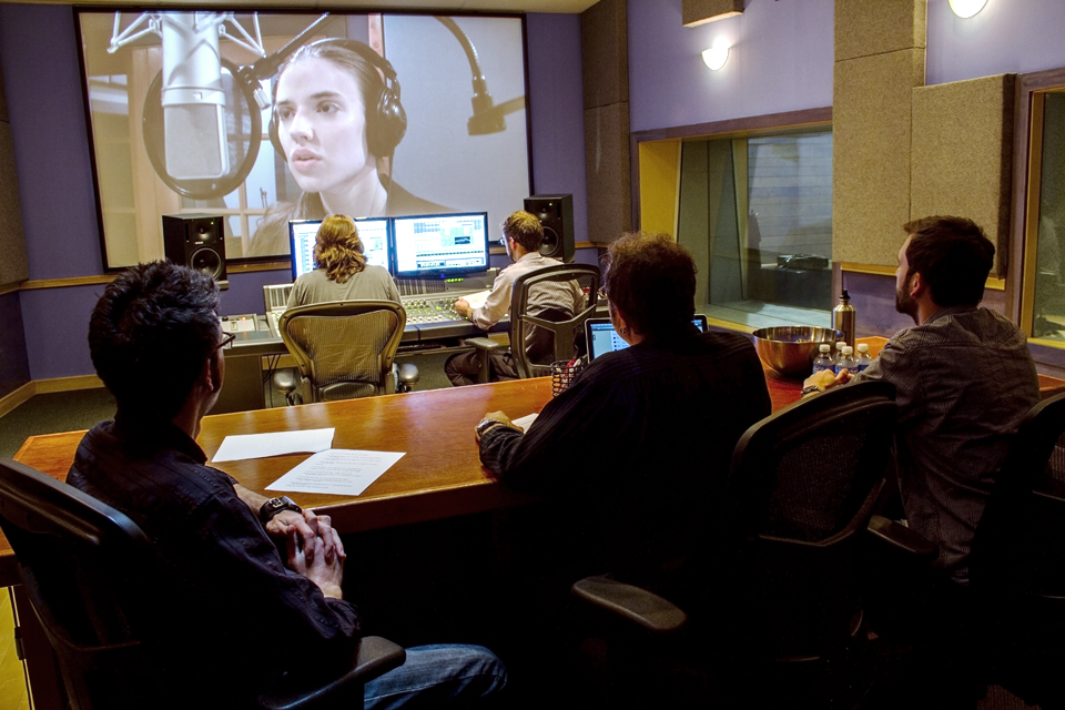 Studio A voice over session