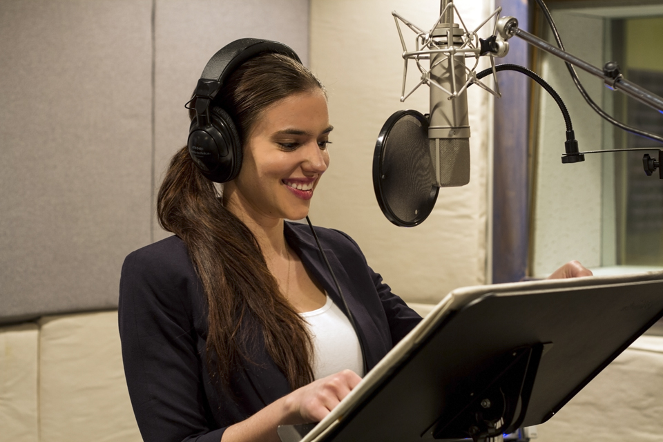 VO booth and talent