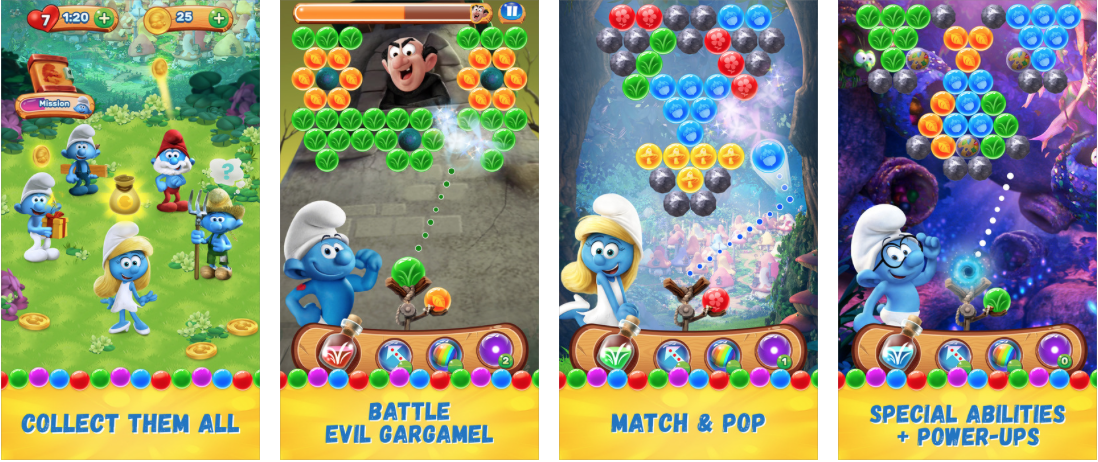 Smurfs Bubble Story Screen Shots