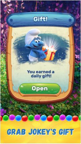 Smurfs Bubble Story Jokeys Gift
