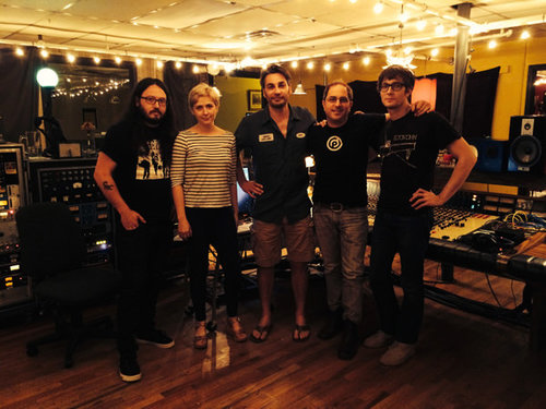 Pictured Above L to R –  Cheap Time: Ryan Sweeney (Drums), Jessica McFarland (Bass), Chris Mara (Welcome To 1979 Studios, Engineer), Gregory J. Gordon, Jeffrey Novak
