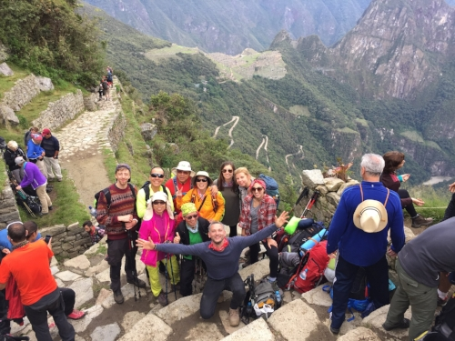 Finally, the end of the Inca Trail in Peru at the Sun Gate in Machu Picchu!