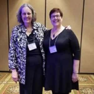 Shirley and Leanne speaking at the 21st Annual Kansas Governor and Attorney General's Crime Victims' Rights Conference in April 2018