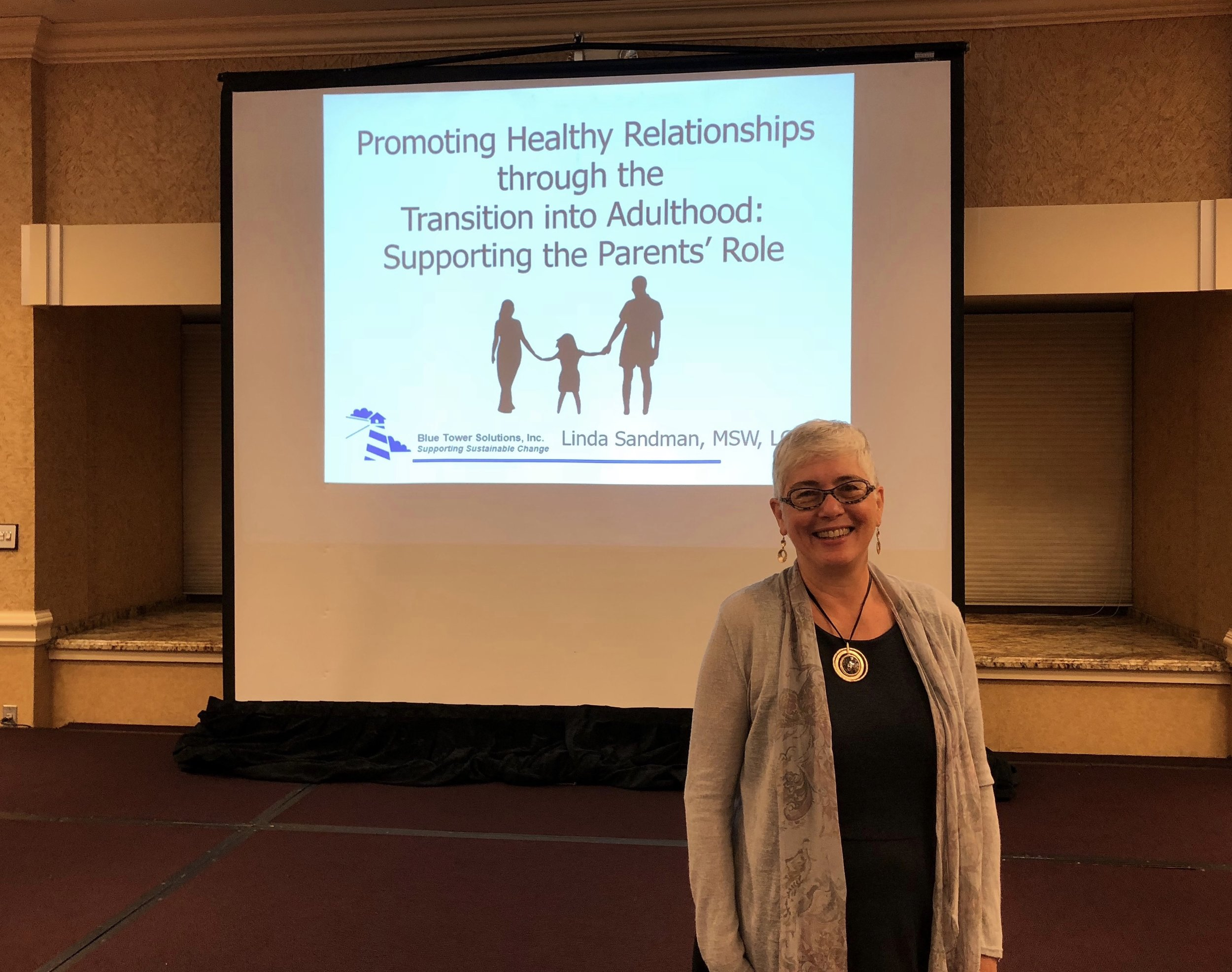 """Arc of Illinois Living with Autism Conference - October 2, 2018  Linda Sandman, Co-Director at Blue Tower Solutions, Inc. spoke at the Arc of Illinois Living with Autism Conference this week (October 2nd). Her topic was """"Promoting Healthy Relationships Through the Transition into Adulthood: Supporting the Parents' Role"""". Linda says, """"It was a welcoming and inspiring conference! Many thanks to the Arc of Illinois and The Autism Program (TAP) for sponsoring it.""""  While at the Conference, Linda learned about several impressive self-advocates with autism. One is named Jeremy Sicile-Kira. His mother, Chantal Sicile-Kira spoke at the conference and shared about Jeremy's journey to becoming a successful artist. Jeremy has synesthesia and is able to translate the emotions of people he has met into incredible portraits. It is definitely worth your time to check out his website:  https://www.jeremysvision.com/   The second self-advocate, Kerry Magro, is an accomplished speaker with an amazing resume. He has undertaken a very cool project to assemble short videos by self-advocates around the world speaking about their passions and what makes them unique in the world. You can find these videos on the Facebook page:  https://www.facebook.com/ASpecialCommunity/"""
