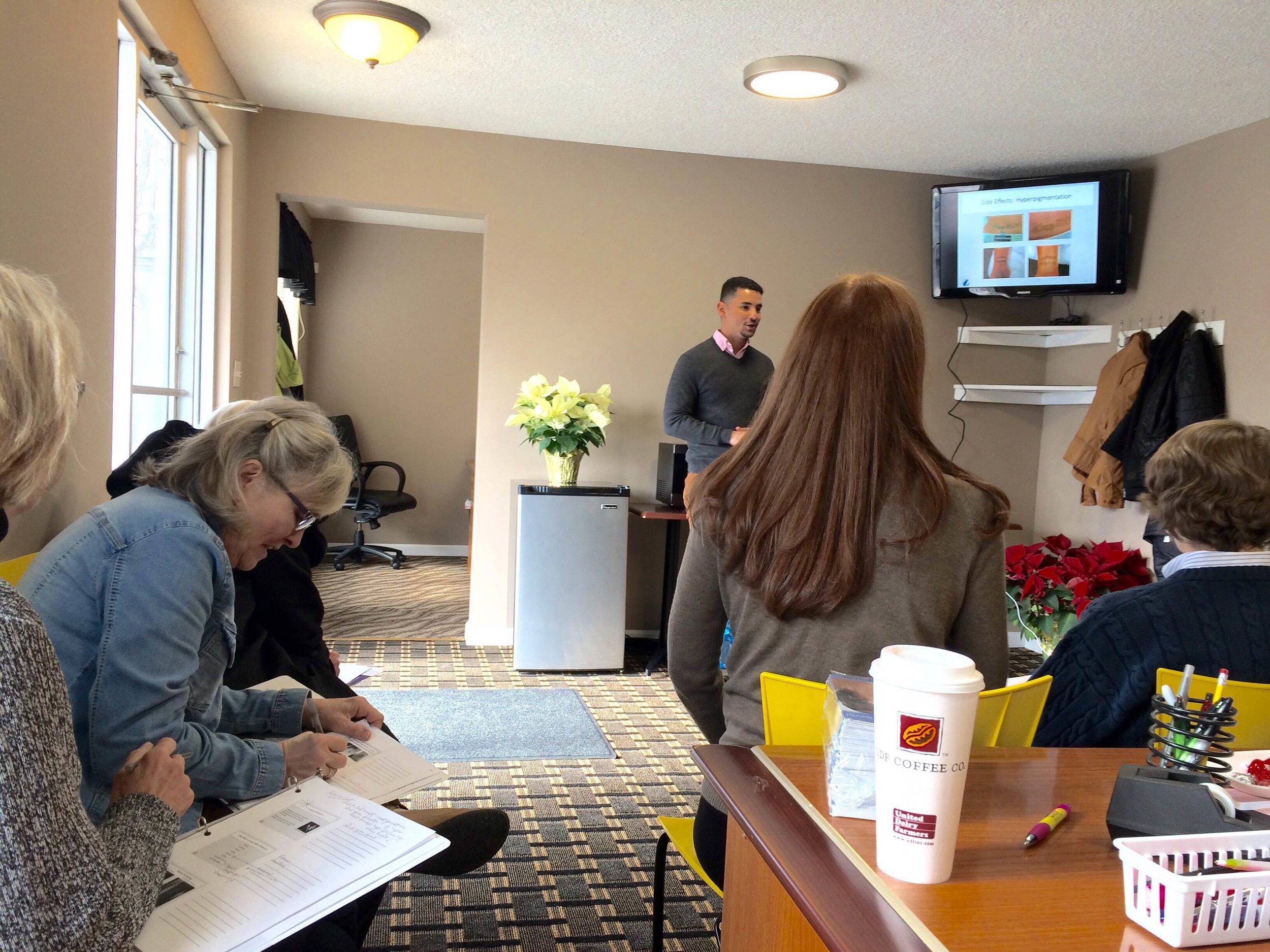 Classroom training with Armando Diaz