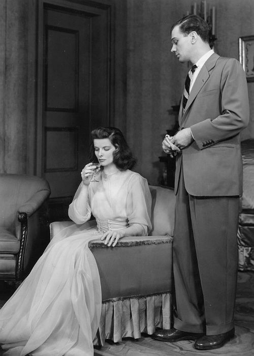Katharine Hepburn in the Philadelphia Story, dress designed by Valentina Schlee