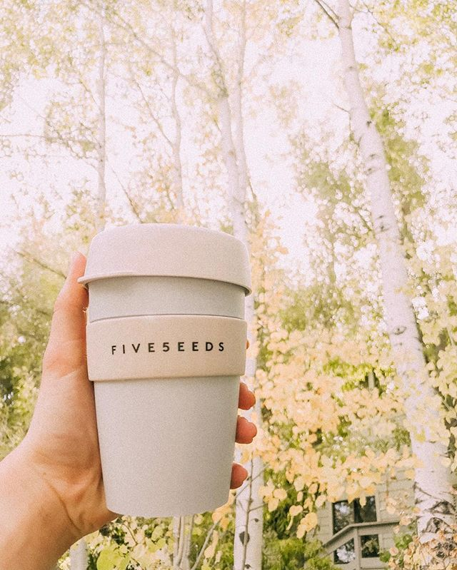 Fall has finally arrived and so have our new travel cups! Buy one for just $13 and you'll get $0.50 off of your drink every time you bring it in!! 🍂