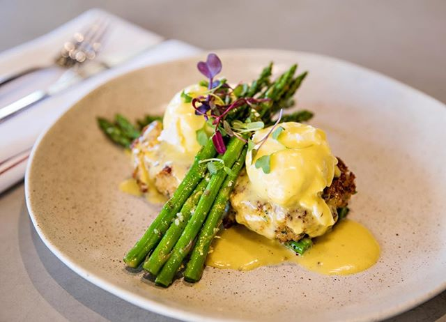 "The crab cake benny is back - but just for tomorrow only! To all of the mums, caregivers and ""hands that rock the cradle"", we salute you! Also, you can pick up some bloomin' marvelous buds from the very talented @florette_parkcity from 7.30am tomorrow!"